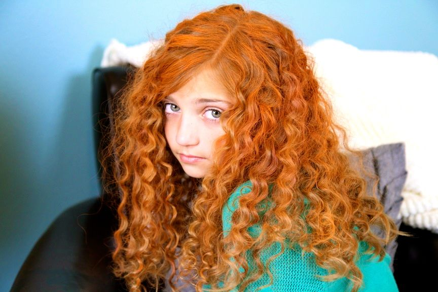 Red Hair Color Of Orange And Red Temporary Spray In Hair Color