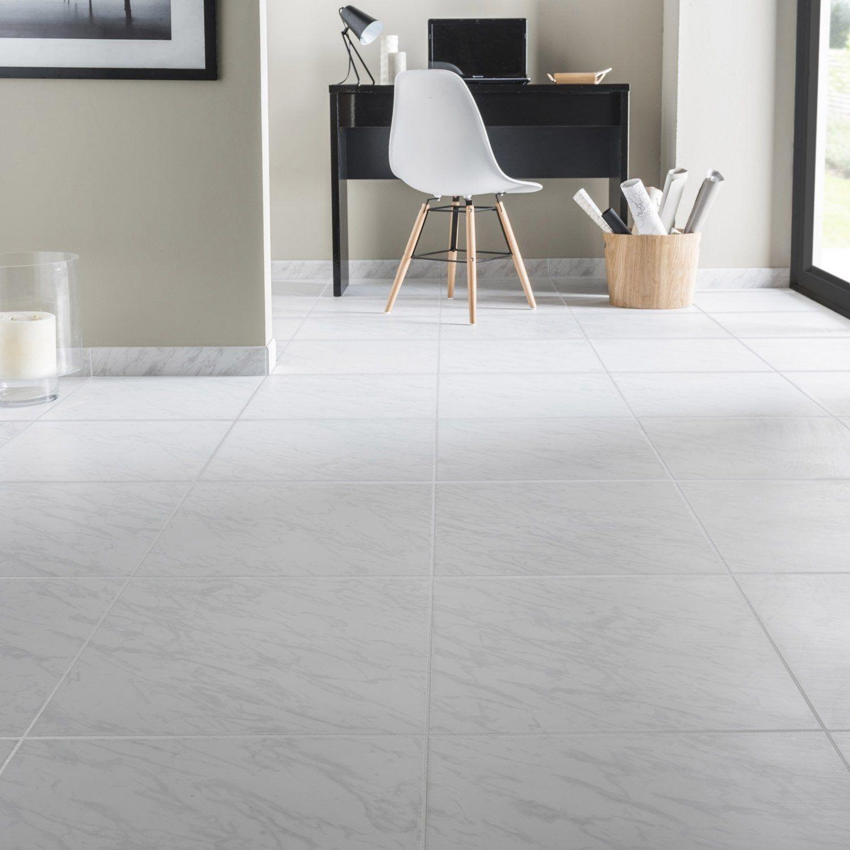 Carrelage Sol Et Mur Forte Effet Marbre Blanc Cyclade L 45 X