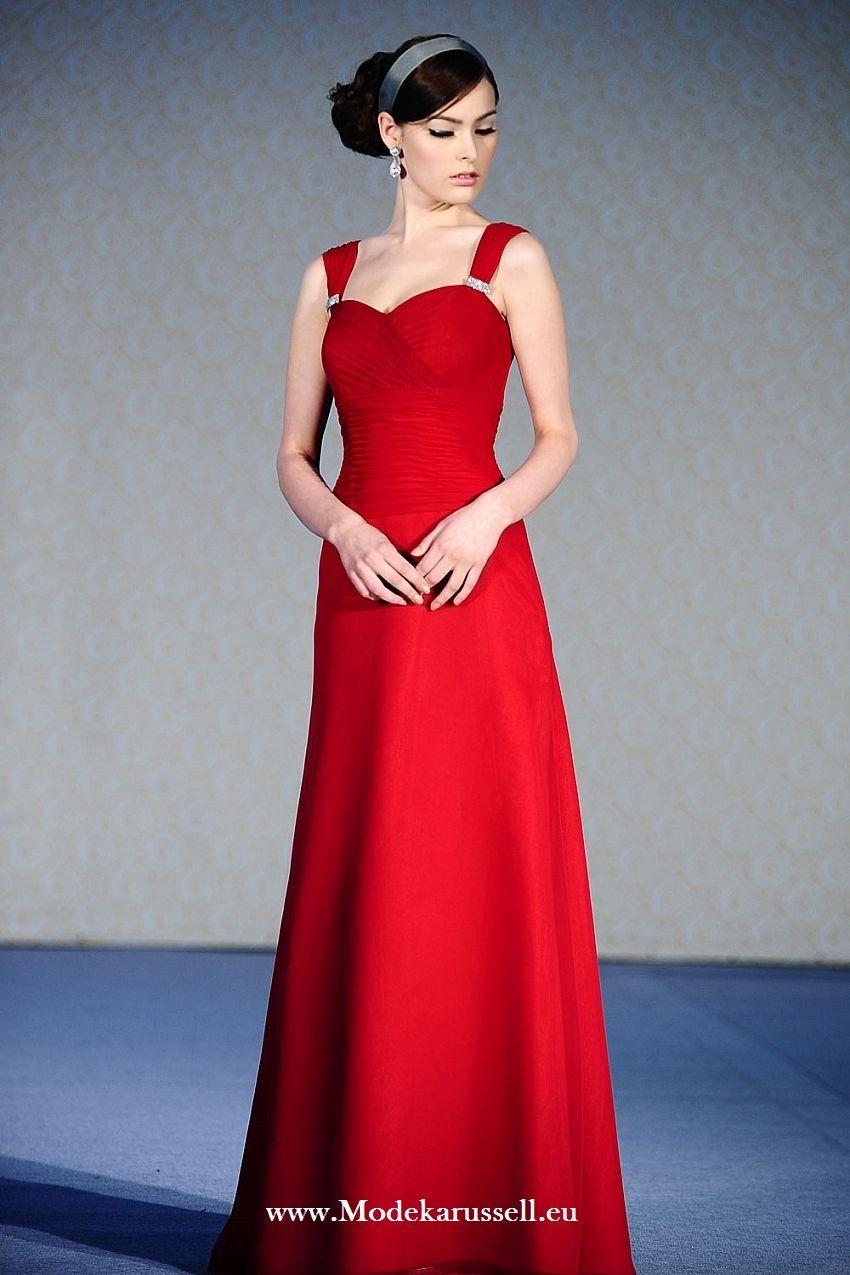 Tolles Brautmutterkleid in Rot | Rote Kleider online kaufen ...