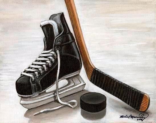 The Artwork Of Michael Macaulay Website Hockey Pictures Hockey Drawing Hockey