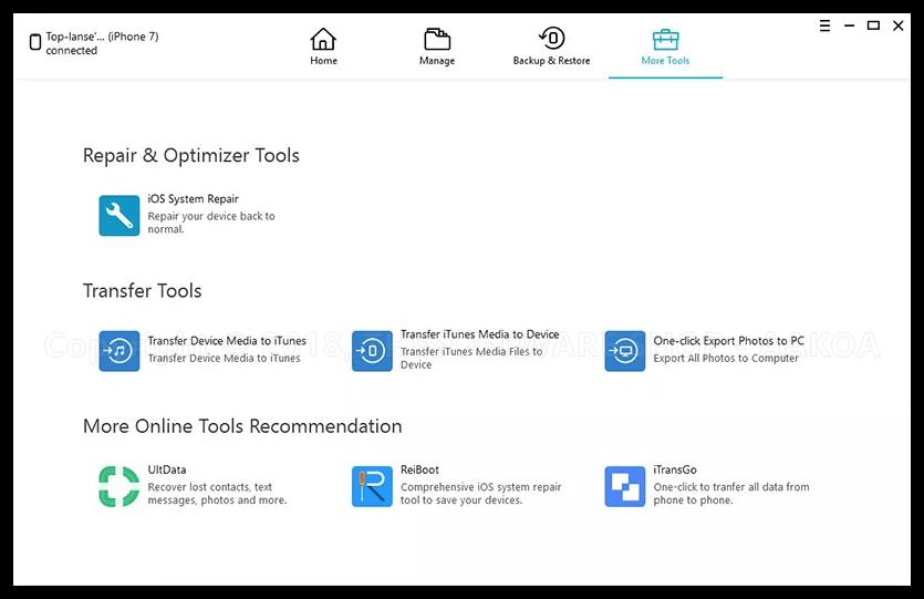 Tenorshare iCareFone - More Tools (iOS System Repair