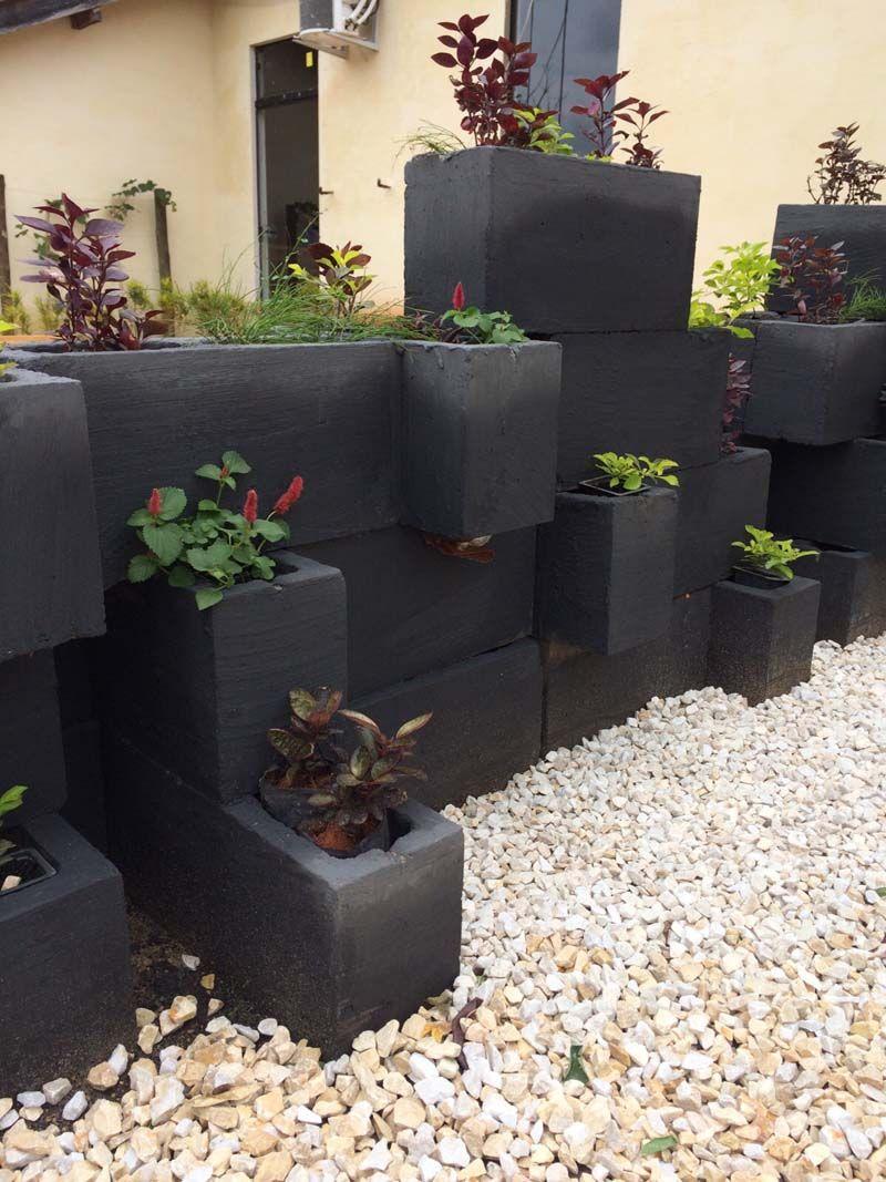 Jardim De Blocos De Concreto Com Imagens Tijolo Jardim Design