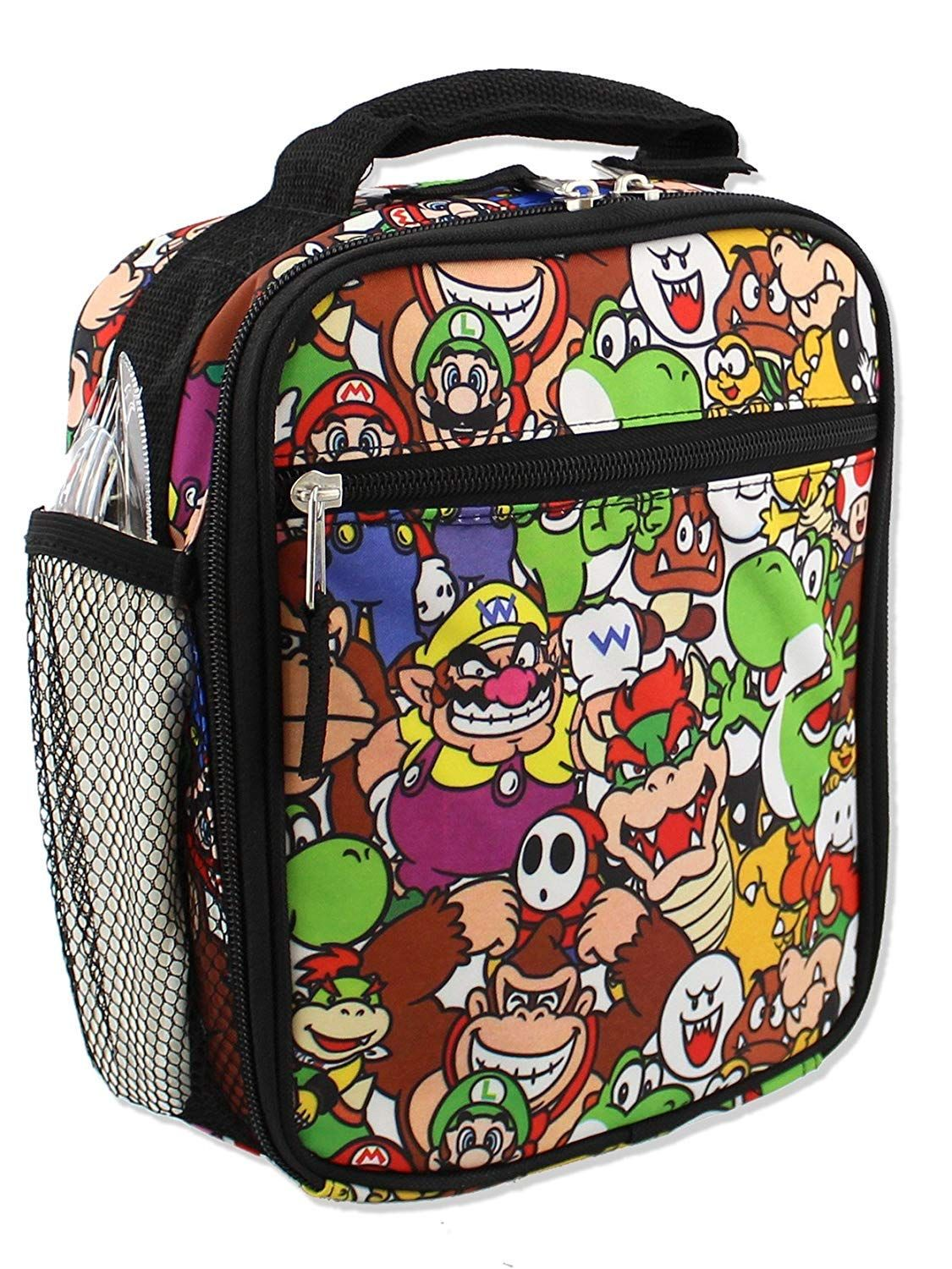 7b95e24955 Super Mario Boys Girls Soft Insulated School Lunch Box (Black Multi) WELL  CONSTRUCTED