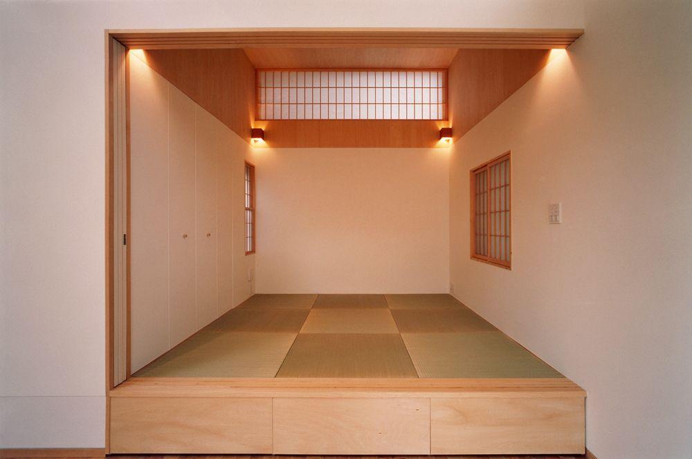 天井の高い小上がりの和室 家 和室 天井