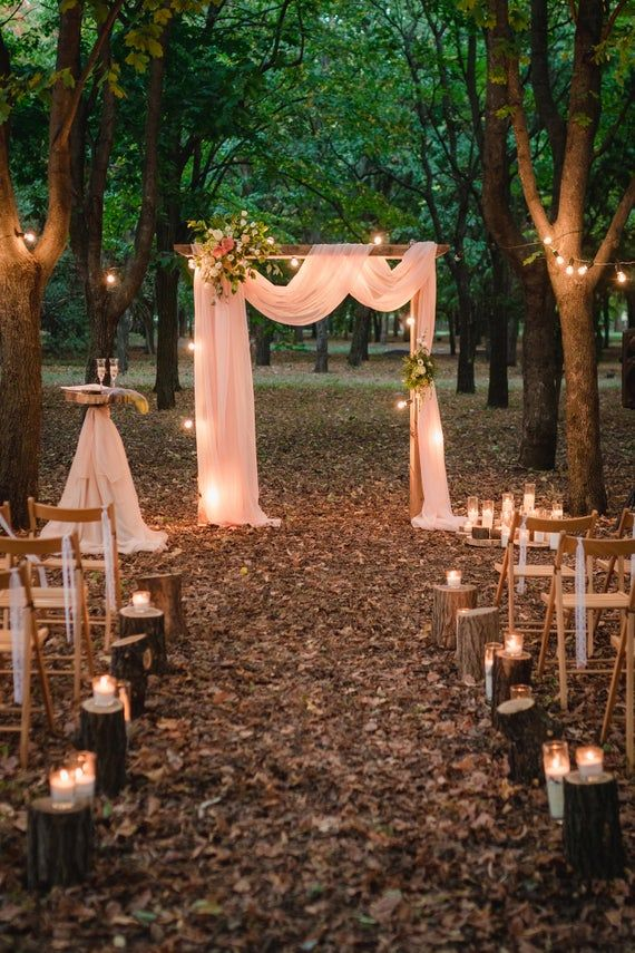 Wedding Arch Chiffon Panels, Canopy Draping, Chuppah Drapes with rod pocket -   18 wedding Small barn ideas