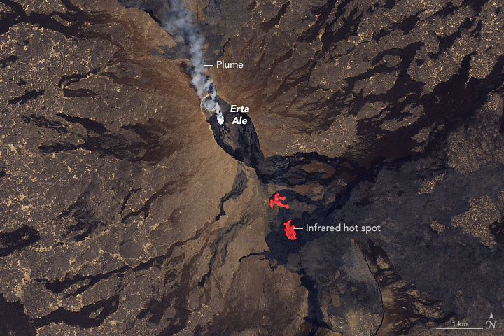 'Gateway to Hell': Volcano Caught Spewing Lava in Satellite Image #Science #iNewsPhoto