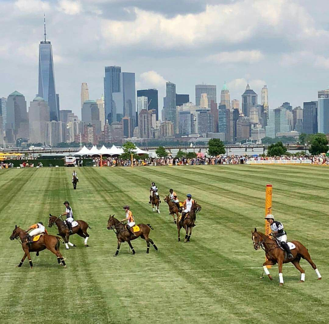 Polo Club with the New York Skyline as a Backdrop Sport