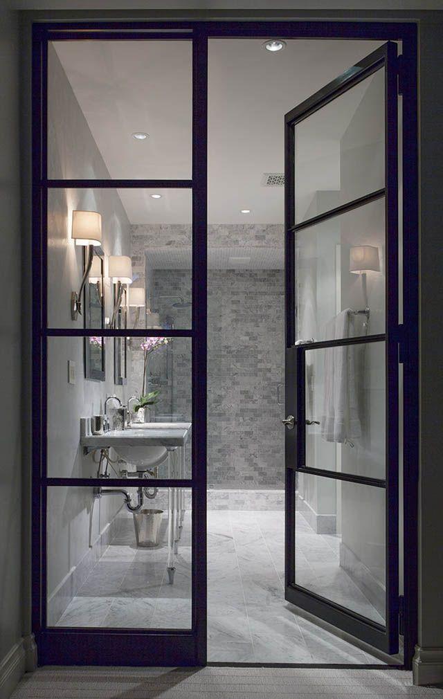 Stalen deuren naar de badkamer   Verbouwen   Pinterest   Doors ...