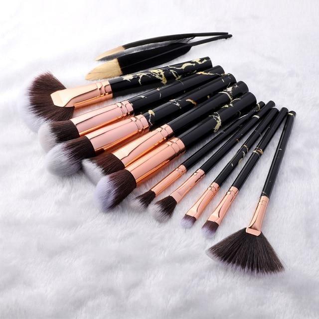 15Pcs Makeup Brushes Tool Set Kosmetische Mischung Beauty Make Up Brush – Sektor 10pcs schwarz