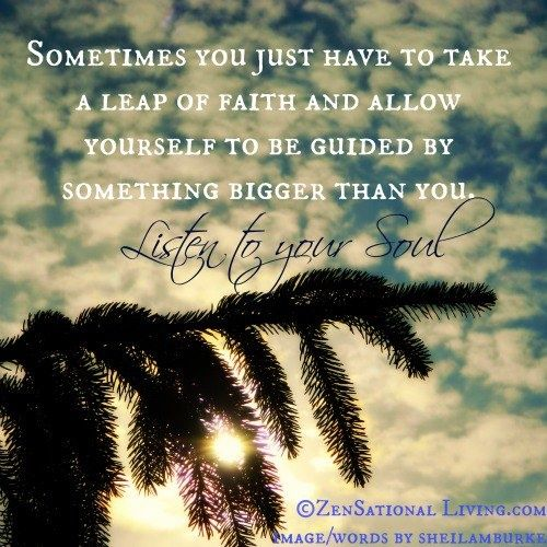 Inspiring Quotes About Life Take A Leap Of Faith Words