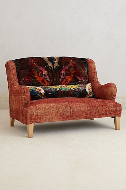 Silk Knotted Settee Anthropologie And Pintowin