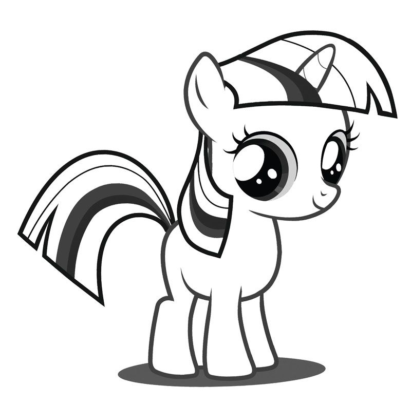 My Little Pony Coloring Pages Baby Rarity : Baby twilight sparkle coloring page my little pony