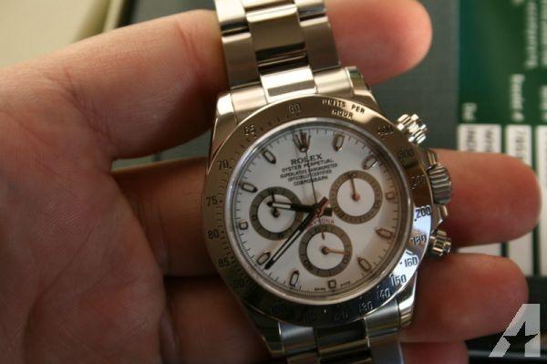 buy online 0826b bca77 Rolex Daytona 116520 SS*White Dial*V series - $8500   High ...