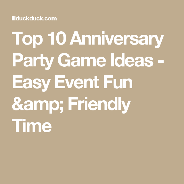 Video Game Wedding Ideas: Top 10 Anniversary Party Game Ideas