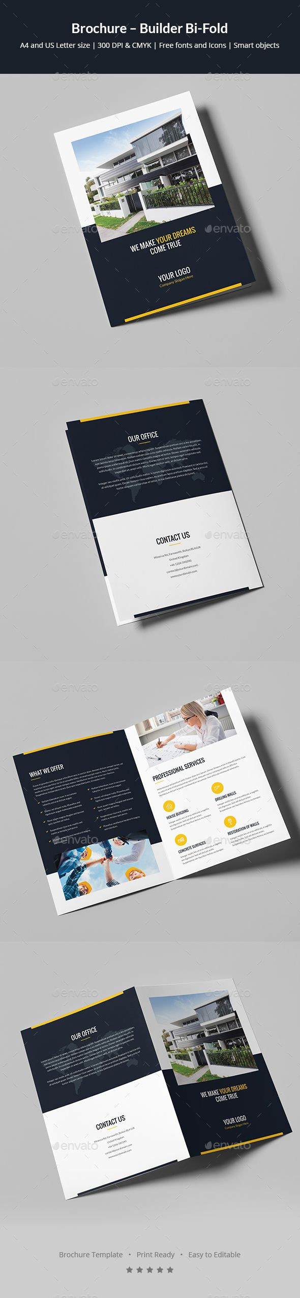 brochure builder bi fold brochures brochure template and template