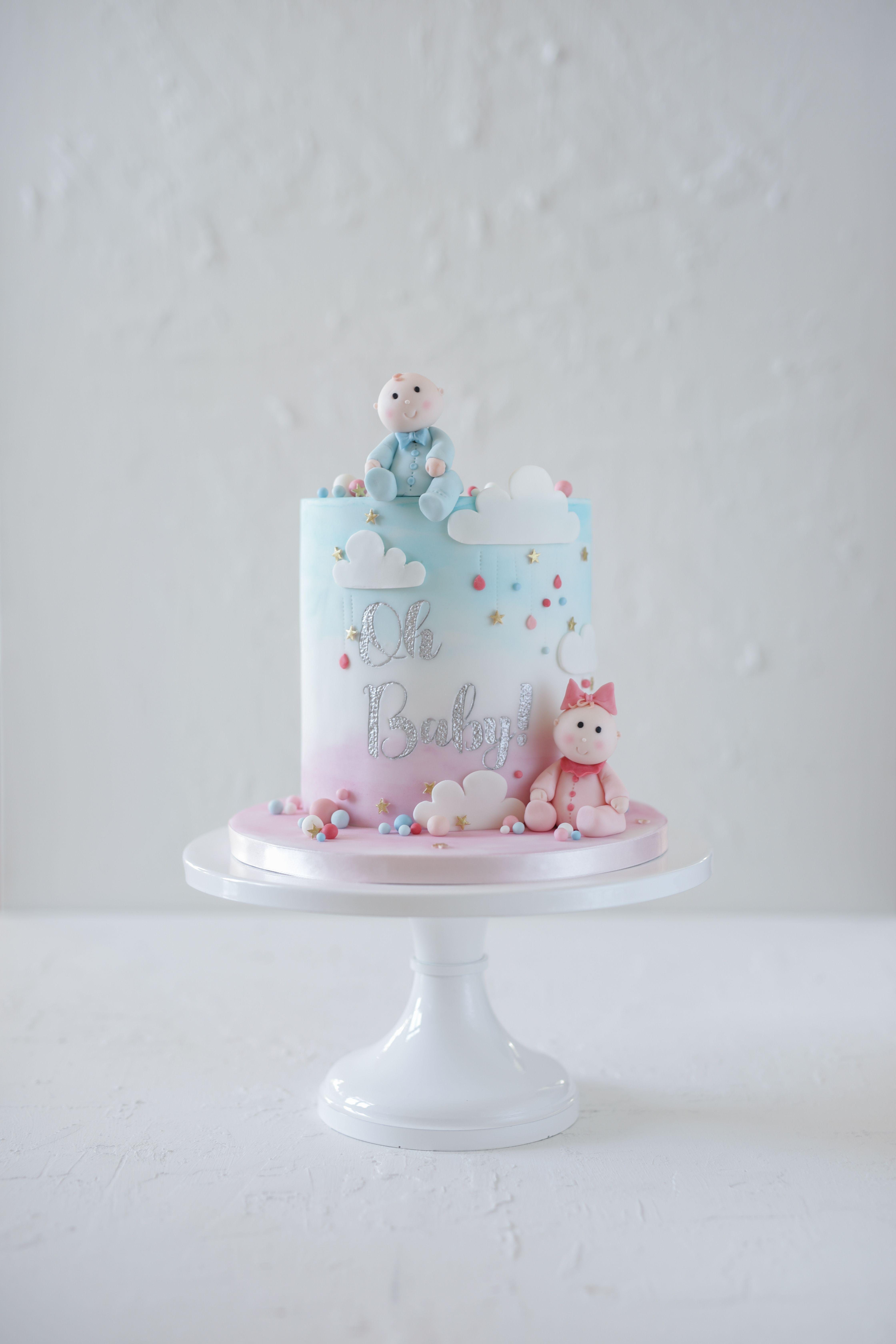 Gender Reveal Baby Shower Cake Baby Shower Gender Reveal Cake
