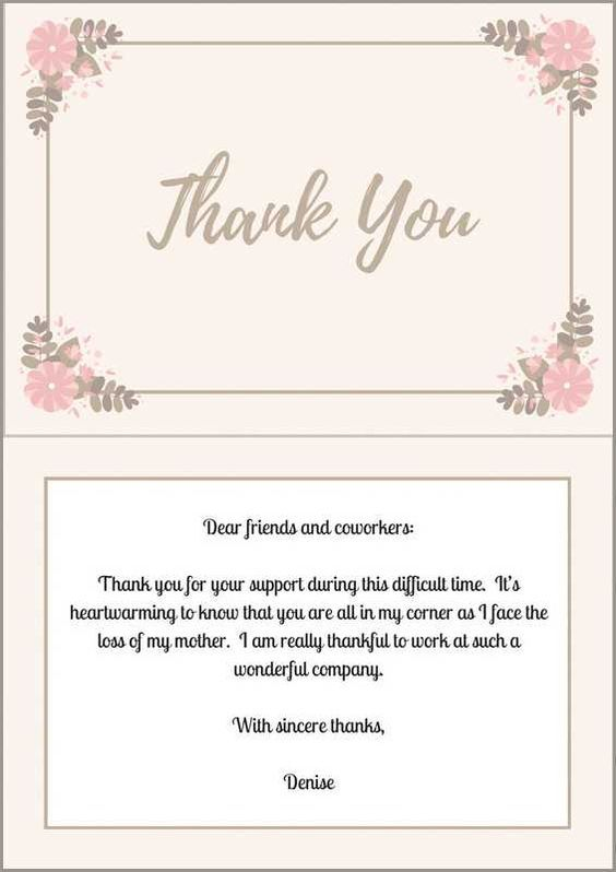 33+ Best Funeral Thank You Cards   Funeral thank you cards ...