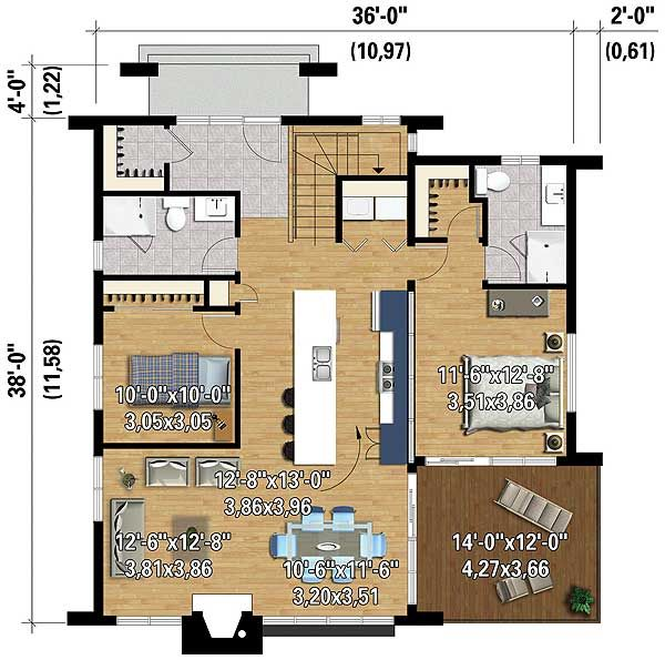 Plan 80814PM: Two Bedroom Contemporary House Plan | Floor ...
