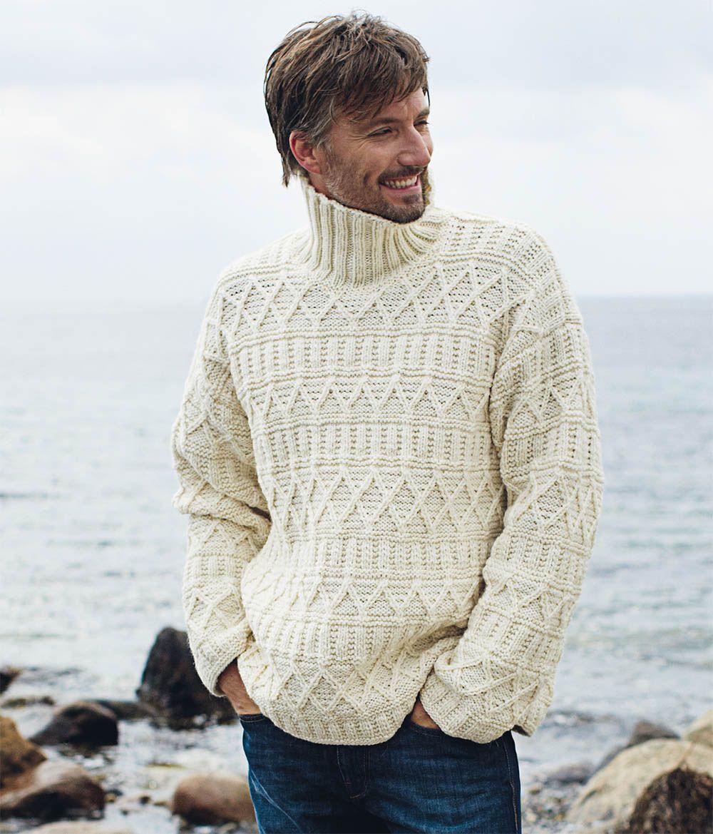 Вязание мужской свитер с узором