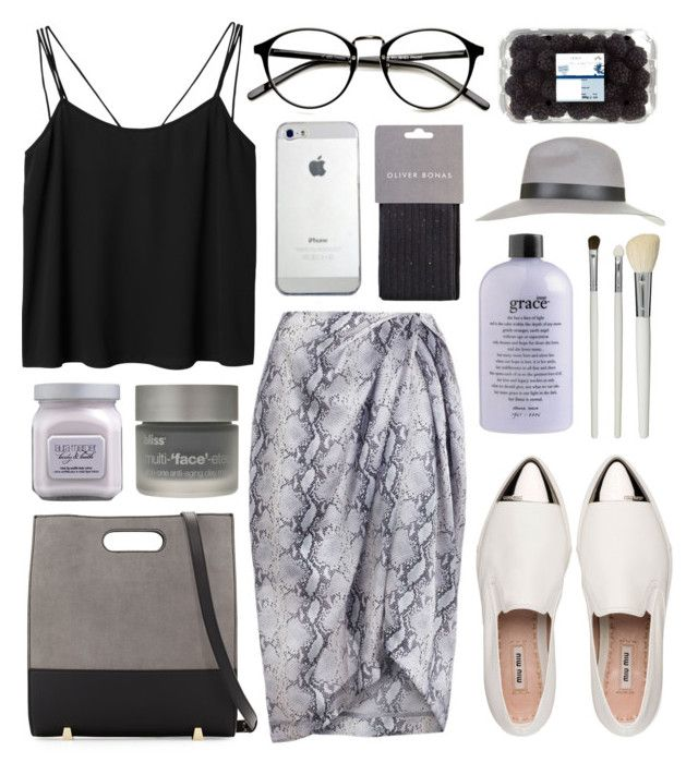 """""""imperfection"""" by jesicacecillia ❤ liked on Polyvore featuring Alexander Wang, Zimmermann, Monki, Laura Mercier, Bliss, Miu Miu, philosophy, Topshop and Cath Kidston"""
