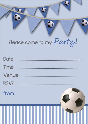 free printable football party invitation templates soccer party
