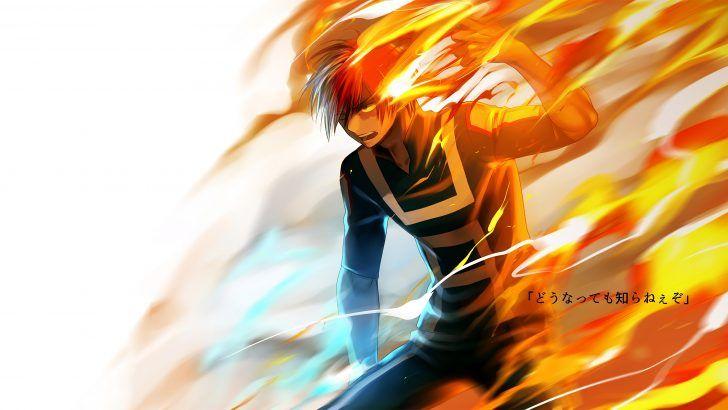 Shoto Todoroki Fire Wallpaper By Pixiv 6901700 3840x2160 Hero Boku No Hero Academia My Hero