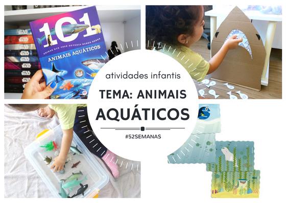 Atividades infantis da semana - animais áquaticos