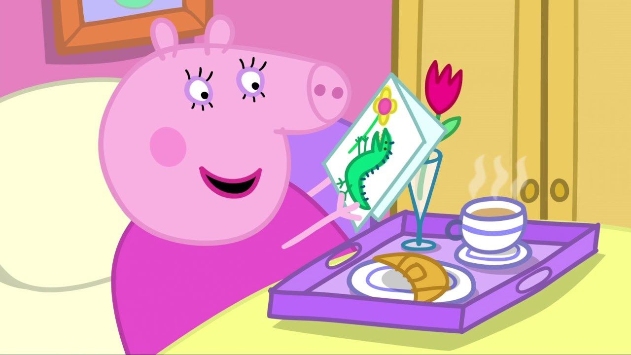 Peppa Pig Makes A Birthday Cake Peppa Pig Cartoon Kids Rebecca