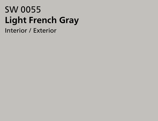 Sherwin Williams Light French Gray Office Paint Color by Jennifer Allwood