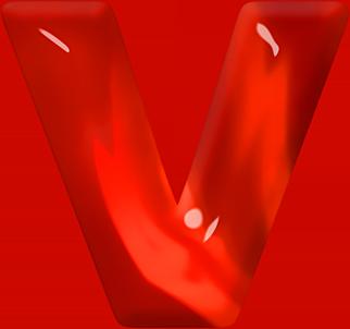 Presentation Alphabets Red Glass Letter V Free Printable Letters Printable Letters Alphabet