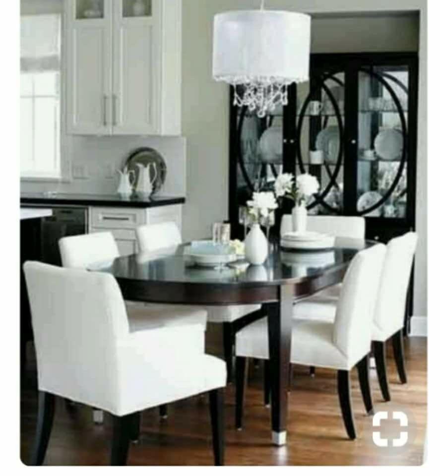 Pin By Halakalach68 Gmail Com On Interiors White Dining Room Sets White Dining Room Dining Room Contemporary