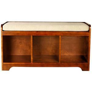Marvelous Wellman Dark Cherry 3 Cubby Storage Bench Ideas For The Ocoug Best Dining Table And Chair Ideas Images Ocougorg