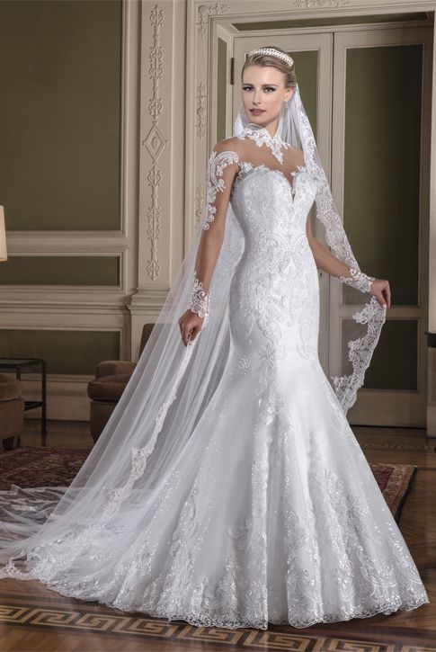 Vestido de noiva VHT | Vestido de noiva, Manga de vestido