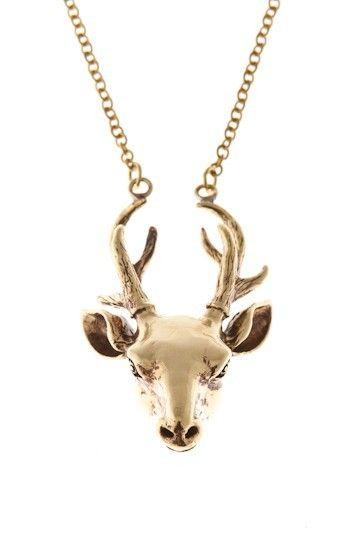 GwangKoo - halsband med lång kedja och hjort - JohannaN - Designer
