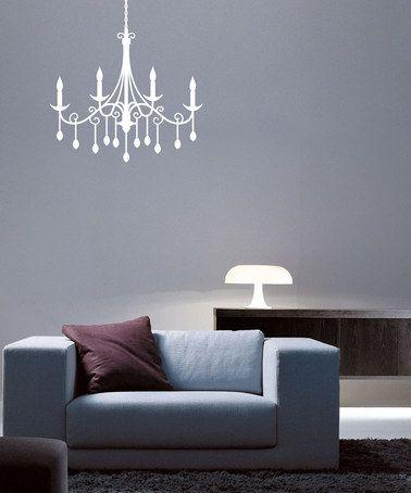 Look at this zulilyfind white jewel chandelier decal zulilyfinds white jewel chandelier decal zulilyfinds aloadofball Choice Image