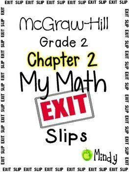 My Math Mcgraw Hill Chapter 2 Exit Slips Grade 2 Math Mcgraw Hill Math Writing Rubric