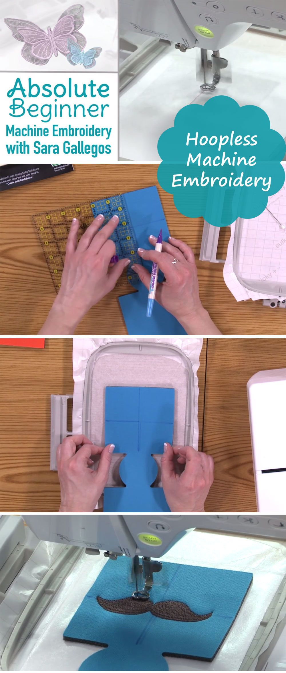 Embroidery 101 how to embroider machine embroidery embroidery diy personalized drink coozies learn how to machine embroider without a hoop in this episode ccuart Choice Image