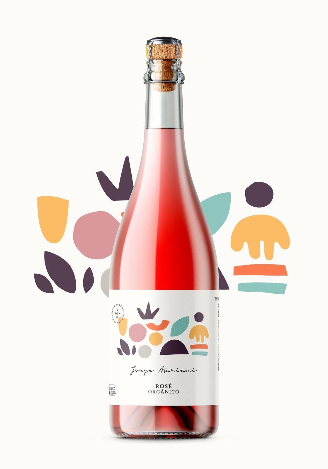 Jorge Mariani Rose Sparkling Wine In 2020 Wine Packaging Design Bottle Label Design Wine Design