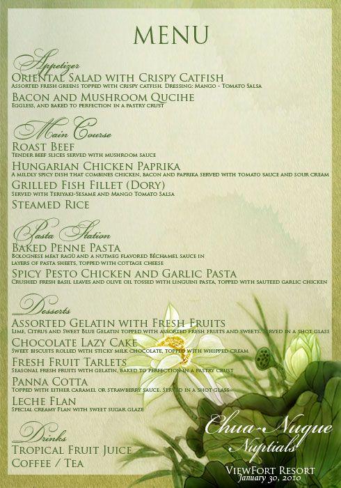 filipino menu card - Google Search | Philippines/Filipino ...