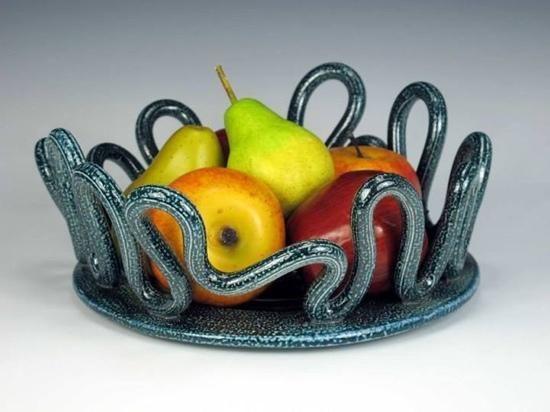 Salt glazed fruit bowl