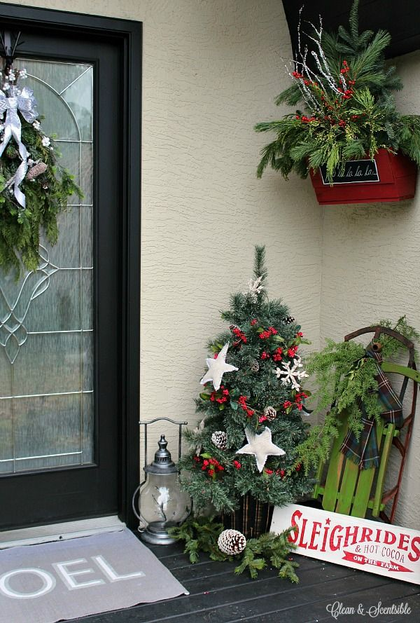 Christmas Porch Rustic christmas, Front porches and Porch