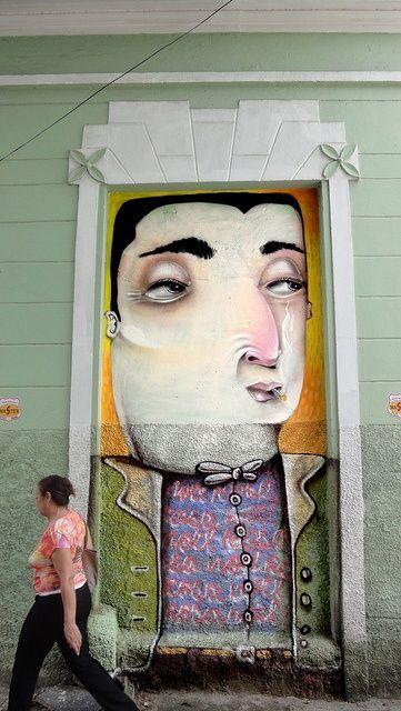 painted door Noel Rosa by Davi de Melo Santos (aka DMS). Belo Horizonte, Brazil, 2008.