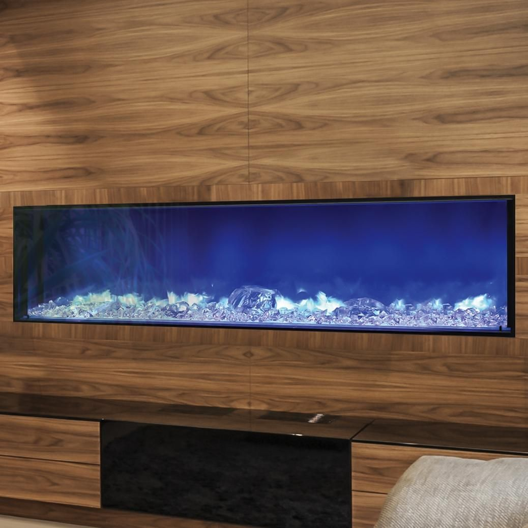 I Love This Electric Fireplace Because Of The Unique Blue Flame Amantii Fire Ice 72 Inch Built In Bi Deep