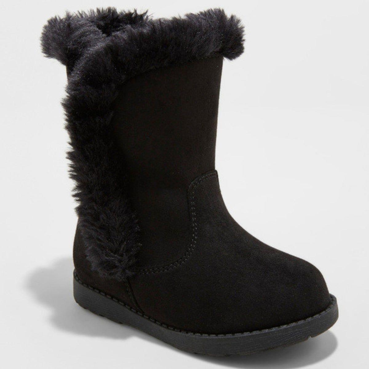 Toddler Katrina Fleece Boots Black 4