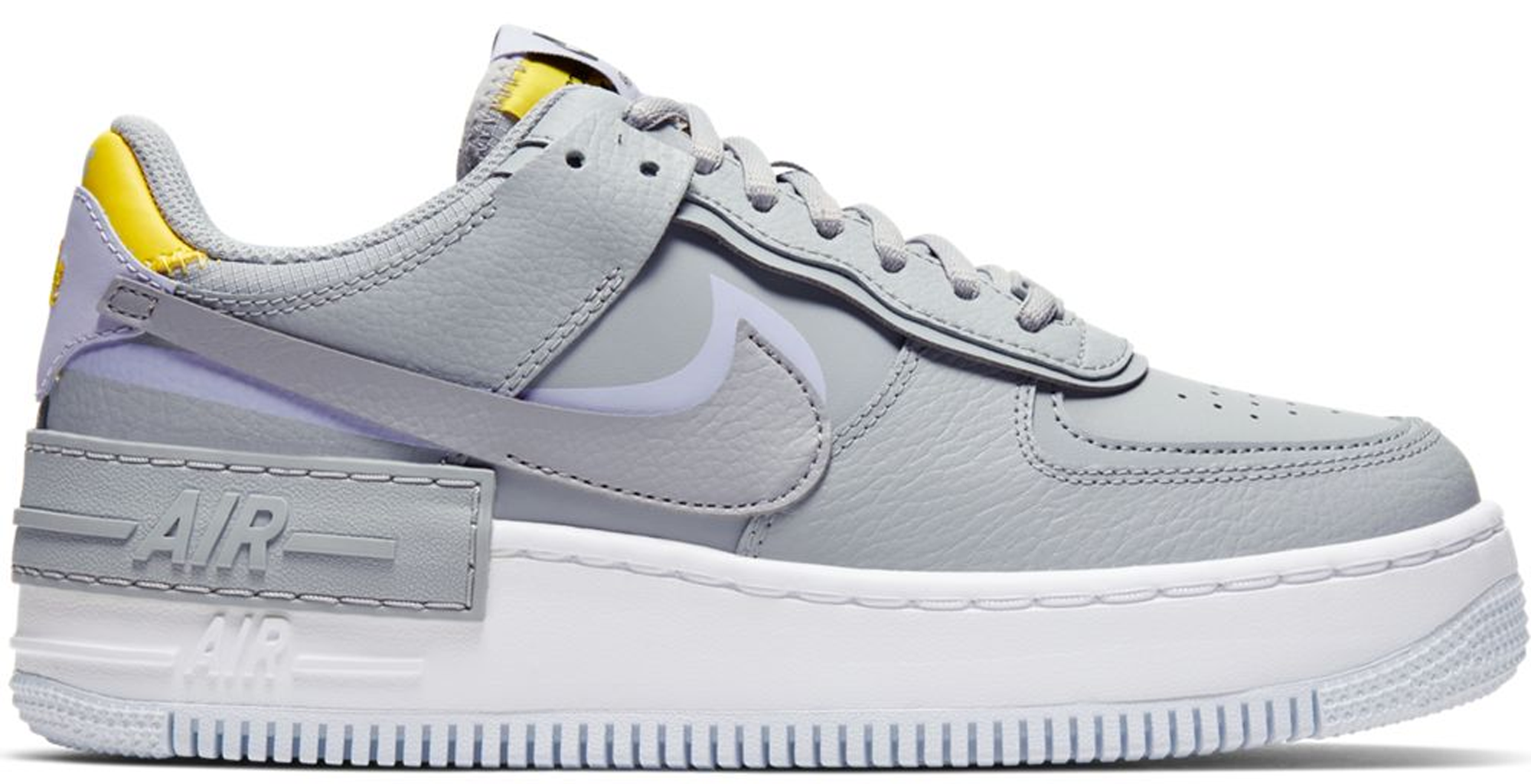 Pre Owned Nike Air Force 1 Shadow Wolf Grey Lavender Mist W In Wolf Grey Lavender Mist Modesens Nike Air Force Shadow Wolf Nike Arriving in a metallic silver colorway, the classic silhouette features a vibrant pop of. pre owned nike air force 1 shadow wolf