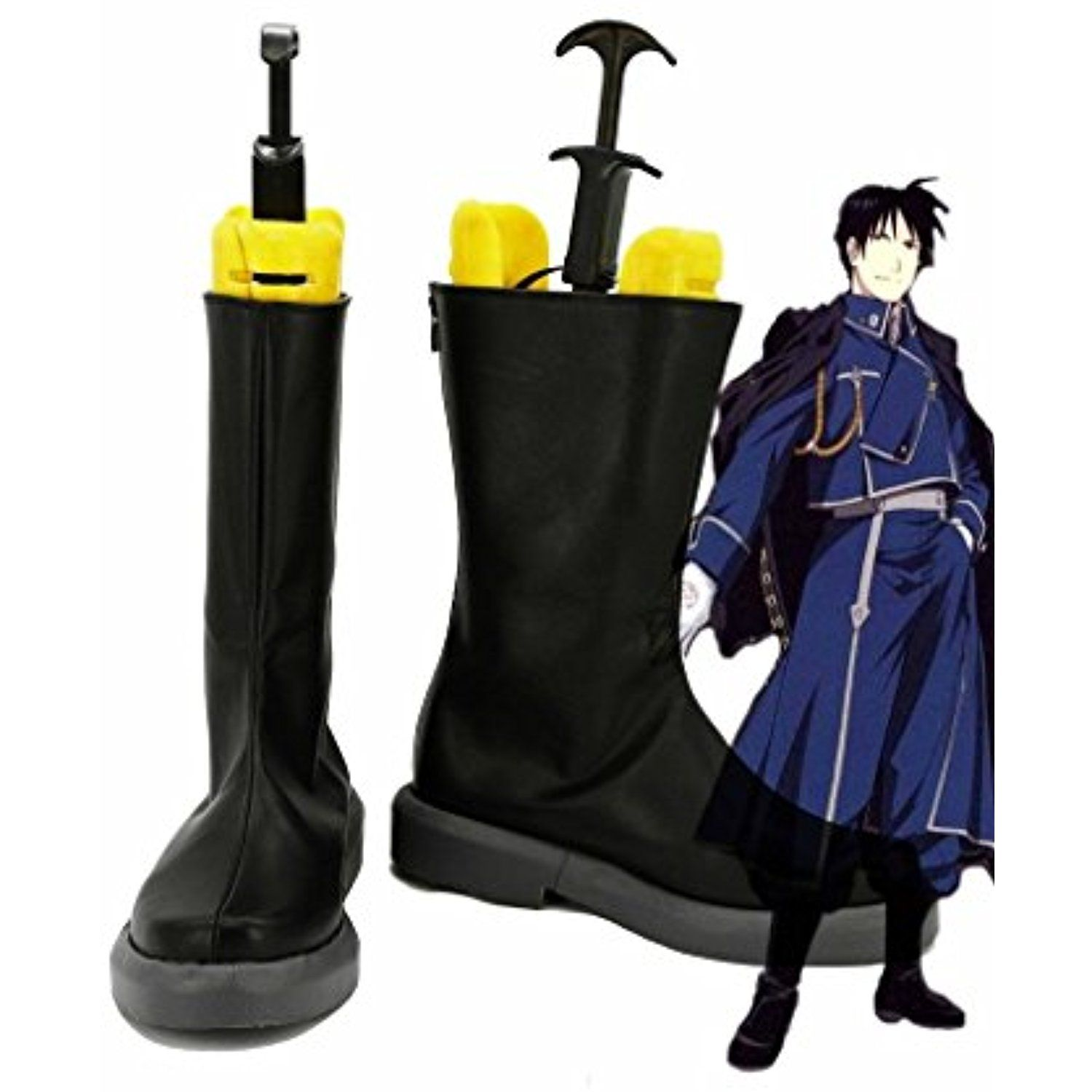 Fullmetal Alchemist Roy Mustang Cosplay Shoes Boots Custom Made