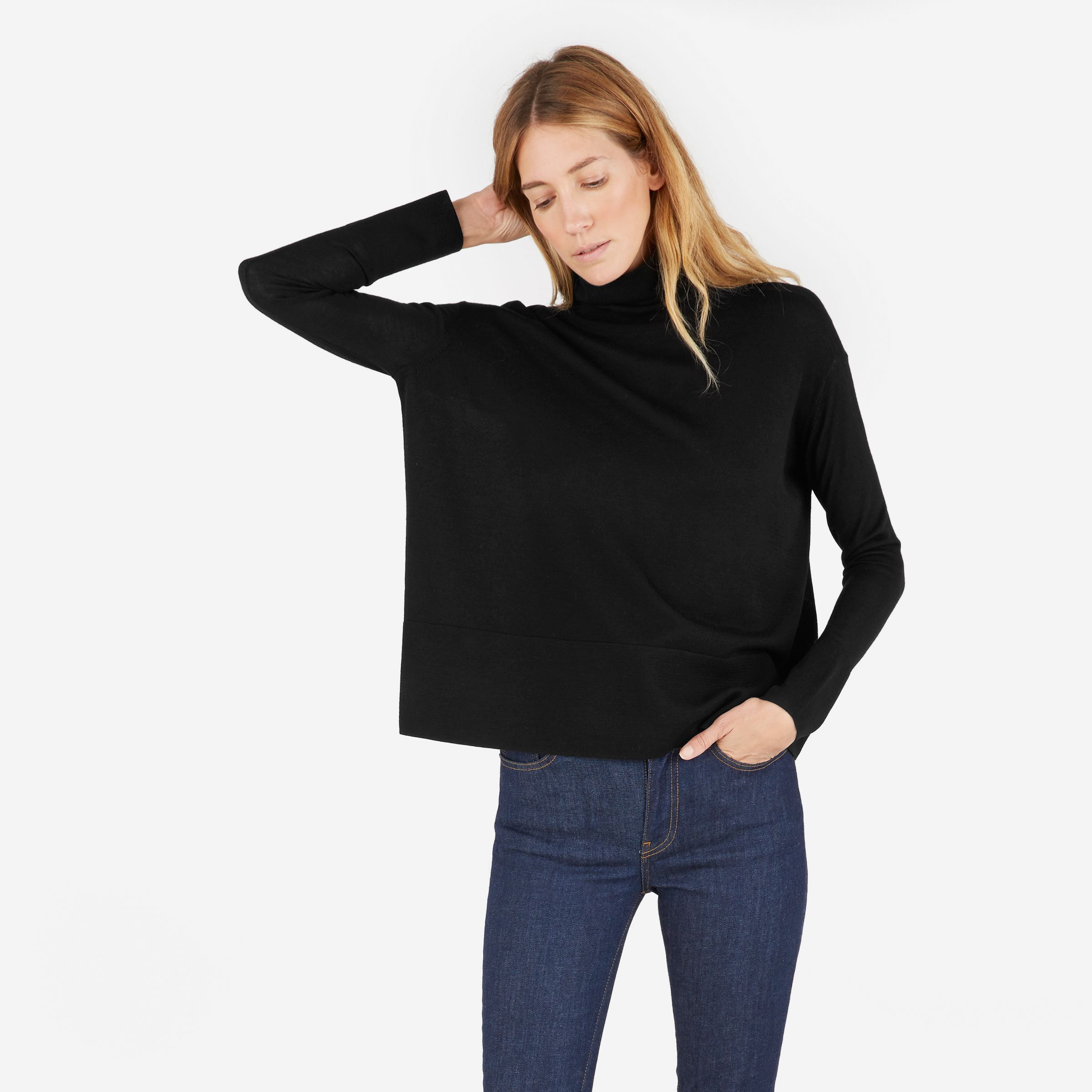 The Luxe Wool Square Turtleneck | Products, Turtlenecks and 39;s