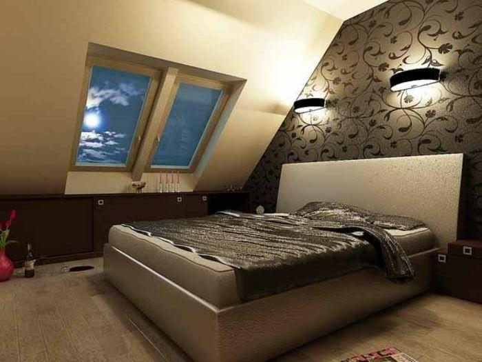 Comment am nager et d corer une chambre mansard e chambre coucher pinterest chambre - Decorer une chambre mansardee ...