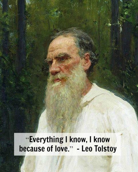 On Love Leo Tolstoy Ilya Repin Leo