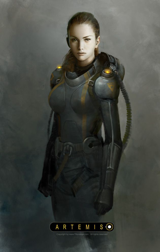 Digital Art by Wang Song | Space suits, Artemis and Sci fi